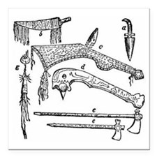 "native weapons Square Car Magnet 3"" x 3"""