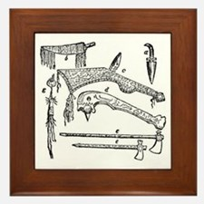 native weapons Framed Tile