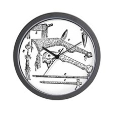 native weapons Wall Clock