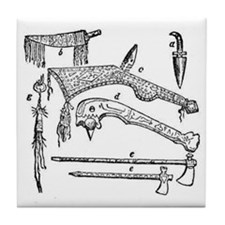 native weapons Tile Coaster
