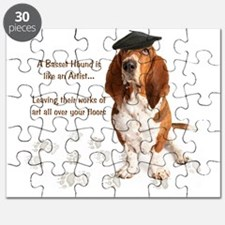 Basset Hound Artist Puzzle