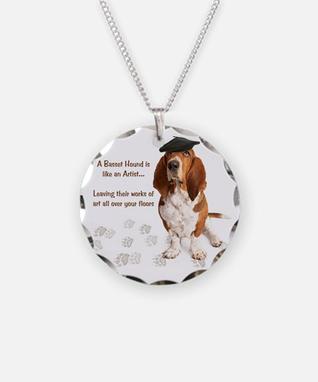 Basset Hound Artist Necklace