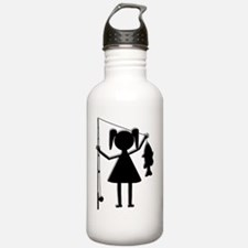 finalreelgirlcentered Water Bottle