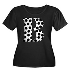 b Women's Plus Size Dark Scoop Neck T-Shirt
