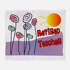 Retired Teacher Purple Mountain Throw Blanket