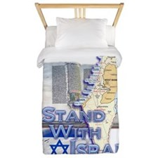 Israel I STAND WITH Twin Duvet