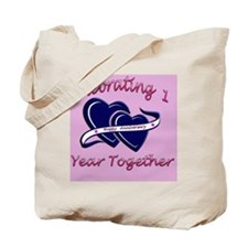 celebrating heart 1pink Tote Bag