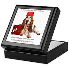 Basset Hound Bellhop Keepsake Box