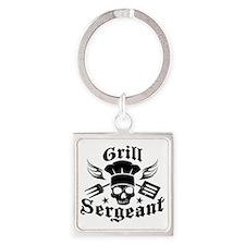 GrillSergent Square Keychain