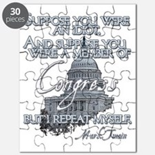 Mark Twain Idiot in Congress lights Puzzle