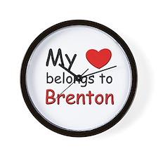 My heart belongs to brenton Wall Clock