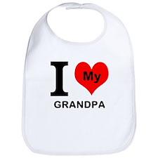 I Heart My Grandpa Bib