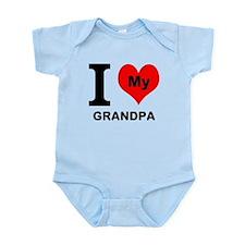 I Heart My Grandpa Body Suit