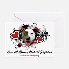 Lover Not Fighter Greeting Card