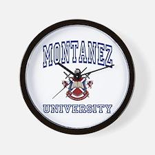 MONTANEZ University Wall Clock