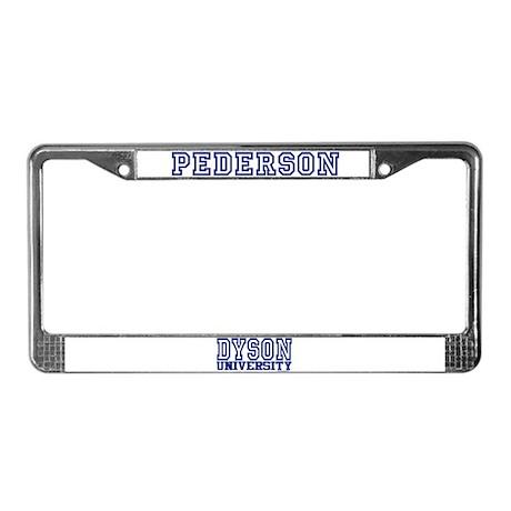 PEDERSON University License Plate Frame