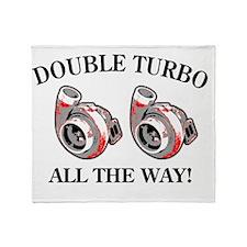 Double_Turbo copy Throw Blanket