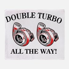 Double_Turbo copy Throw Blanket