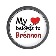 My heart belongs to brennan Wall Clock