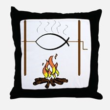fish on a spit1 Throw Pillow