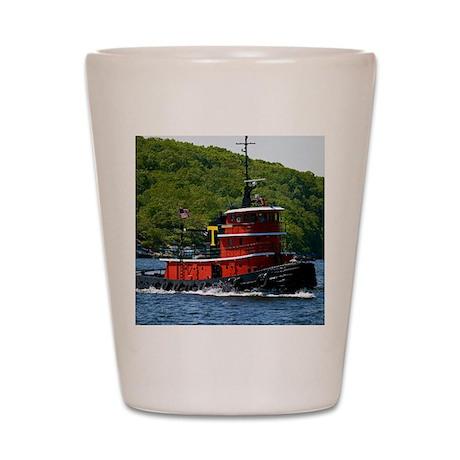 (2) sub tug Shot Glass