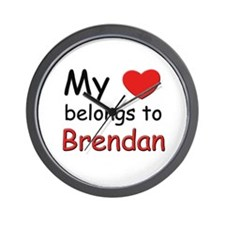 My heart belongs to brendan Wall Clock