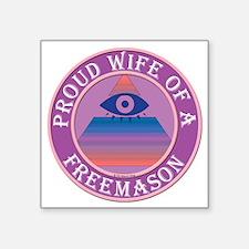"""wifemasonnosc Square Sticker 3"""" x 3"""""""