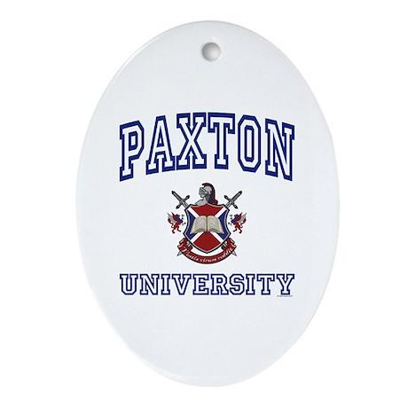 PAXTON University Oval Ornament