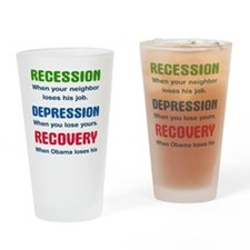 recession3 Drinking Glass