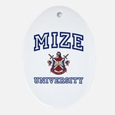 MIZE University Oval Ornament