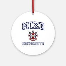 MIZE University Ornament (Round)