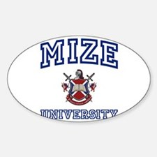 MIZE University Oval Decal