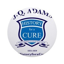 J Q ADAMS 6 TRUMAN dark shirt Round Ornament