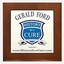 President Gerald FORD 38 TRUMAN dark s Framed Tile