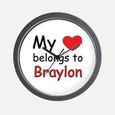 My heart belongs to braylon Wall Clock