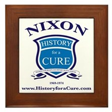 Richaed NIXON 37 TRUMAN dark shirt Framed Tile