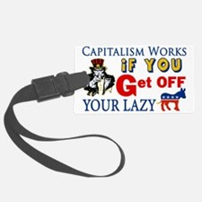 Capitalism Works Luggage Tag