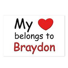 My heart belongs to braydon Postcards (Package of