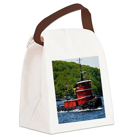 (12) sub tug Canvas Lunch Bag