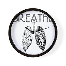 BREATHE lungs Wall Clock