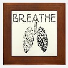 BREATHE lungs Framed Tile