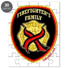 Cross red line-firefighters family Puzzle