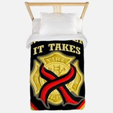 Cross red line-whatever it takes Twin Duvet
