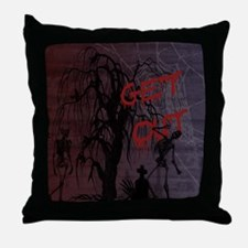 skeletons_GetOut copy Throw Pillow