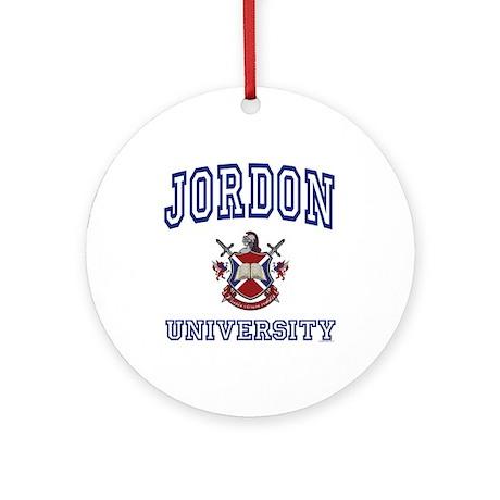 JORDON University Ornament (Round)