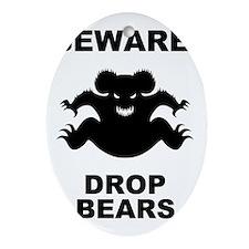 drop-bear-LTT Oval Ornament