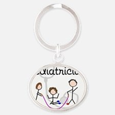 Pediatrician Oval Keychain