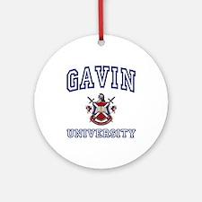 GAVIN University Ornament (Round)