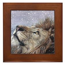 xmas_lion_HUGE Framed Tile