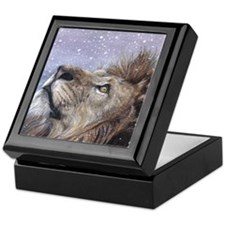 xmas_lion_HUGE Keepsake Box